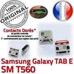 T560 Galaxy charge Micro 9 Prise Connecteur Dorés Pins USB TAB souder E inch Samsung SM-T560 à SM ORIGINAL Connector Chargeur Dock de