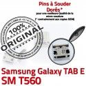 Samsung Galaxy TAB E SM-T560 USB ORIGINAL Connecteur Micro inch T560 charge Dock souder 9 Prise Pins de Dorés à SM Chargeur Connector
