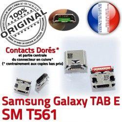 souder 9 Micro de Prise Samsung T561 à Pins E SM-T561 USB inch TAB Connecteur Connector Dorés SM Chargeur Galaxy ORIGINAL Dock charge