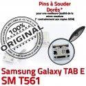 TAB E SM T561 USB Samsung Galaxy SLOT Prise à SM-T561 Qualité TAB-E Fiche Chargeur Connector Pins charge ORIGINAL Dock Dorés souder MicroUSB de