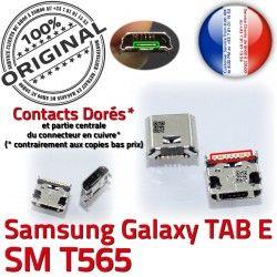Galaxy Prise E Connecteur Connector TAB Dock Micro Dorés Pins USB souder SM-T565 Chargeur 9 de ORIGINAL à T565 charge Samsung SM inch