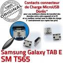 TAB E SM T565 USB Samsung Galaxy Prise Dock TAB-E de à Connector Pins Qualité Fiche charge Dorés ORIGINAL souder SM-T565 Chargeur SLOT MicroUSB