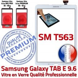 Qualité SM PREMIUM Galaxy TAB-E Samsung Ecran SM-T563 Verre T563 B Tactile Supérieure Assemblé 9.6 Adhésif Blanche Blanc Assemblée Vitre