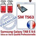 Samsung Galaxy TAB-E SM T563 B Adhésif Verre PREMIUM Tactile Assemblée SM-T563 Supérieure Blanc Blanche Qualité Assemblé Vitre Ecran 9.6