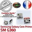Samsung Prime SM G360 Micro USB SM-G360 Core Prise souder Qualité MicroUSB charge Chargeur Pins Fiche à Connector Galaxy Dock de Dorés ORIGINAL
