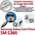 Samsung Prime SM G360 Micro USB Chargeur ORIGINAL Dorés SM-G360 Galaxy à Fiche Core Pins souder Prise Qualité charge MicroUSB Dock de Connector