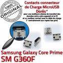 Samsung Prime SM-G360F USB Charg Connecteur Chargeur Prise Micro à souder Dorés de charge G360F Connector Galaxy ORIGINAL Qualité SM Core Pins