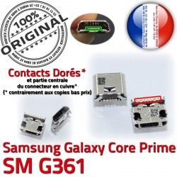 SM Galaxy USB souder Pins Dorés Core Chargeur Dock Fiche Prise MicroUSB Qualité SM-G361 Prime Micro G361 à charge Connector ORIGINAL Samsung de