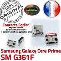 Samsung Prime SM-G361F USB Charg SM Core ORIGINAL Dorés Galaxy charge souder Micro Qualité Prise Chargeur G361F Pins de Connecteur Connector à