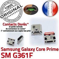 Pins Dorés Connector Prise Dock Samsung charge MicroUSB Galaxy à souder SM G361F Core SM-G361F Fiche de USB Qualité Chargeur Prime Micro ORIGINAL