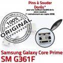 Samsung Prime SM-G361F USB Charg Connecteur charge ORIGINAL Micro Pins Dorés Galaxy G361F SM Prise Connector Chargeur Core de Qualité à souder