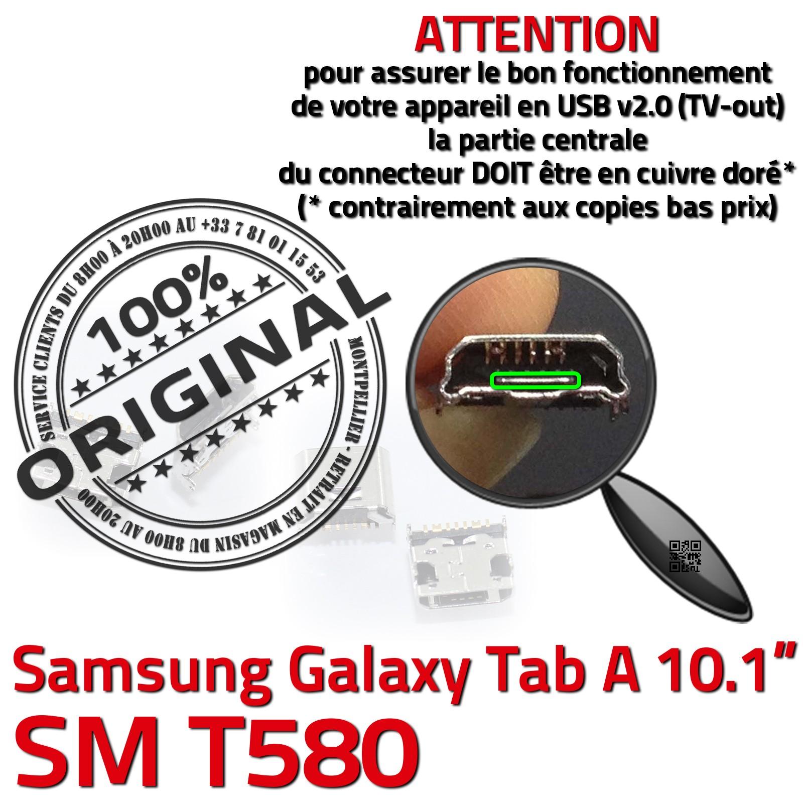 Connecteur de charge d'ORIGINE Galaxy TAB A SM T580 Prise