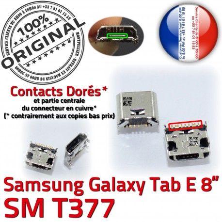 Samsung Galaxy Tab-E SM-T377 USB Dorés TAB-E Fiche de ORIGINAL à Chargeur Pins MicroUSB charge Connector Qualité souder SLOT Dock Prise