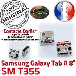 à USB Connecteur Chargeur Galaxy Dock souder inch T355 Prise A Micro Dorés Connector 8 Pins Tab charge SM de ORIGINAL Samsung TAB