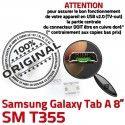 Samsung Galaxy Tab A T355 USB Dock inch ORIGINAL à charge Prise de Chargeur Connecteur Connector SM souder 8 Micro TAB Dorés Pins