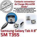 Samsung Galaxy Tab A T355 USB à souder SM Chargeur Prise inch de Connector Micro 8 Connecteur Dock TAB charge Pins ORIGINAL Dorés