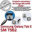 TAB E SM T562 USB Samsung Galaxy Qualité Fiche SM-T562 MicroUSB ORIGINAL TAB-E Prise Dock à Dorés souder Pins SLOT de charge Connector Chargeur