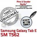 TAB E SM T562 USB Samsung Galaxy SLOT MicroUSB charge TAB-E Chargeur ORIGINAL Connector Dorés Fiche Dock Prise Qualité à Pins SM-T562 souder de
