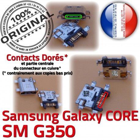 Samsung Core SM G350 Micro USB Pins Plus Connector de à Dorés Chargeur MicroUSB Prise SM-G350 Dock Qualité ORIGINAL charge Galaxy Fiche souder