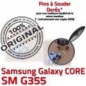 Samsung Core SM G355 Micro USB de Fiche charge Connector Dorés à SM-G355 Chargeur Galaxy Pins Dock PORT souder ORIGINAL Prise 2 Qualité