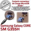 Samsung Core SM-G355H USB Charge Prise Dorés souder ORIGINAL charge Galaxy à G355H Micro Qualité 2 de SM Pins Connector Connecteur PORT Chargeur