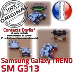 souder Samsung Chargeur Charge TREND USB de Pins ORIGINAL G313 DUOS SM-G313 Qualité charge S à Galaxy Connector Dorés Prise Micro SM Connecteur
