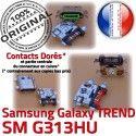 TREND DUOS SM-G313HU USB Charge charge Connecteur Dorés Pins Micro de à G313HU Prise Samsung SM Qualité ORIGINAL Galaxy Connector souder Chargeur