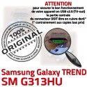 TREND DUOS SM-G313HU USB Charge charge G313HU Dorés Prise Connector à SM Micro de Samsung ORIGINAL Connecteur Qualité Chargeur Pins souder Galaxy