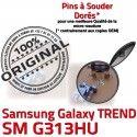 TREND DUOS SM-G313HU USB Charge Samsung ORIGINAL à de Chargeur Prise G313HU Connecteur Connector Galaxy Pins souder SM Dorés Qualité Micro charge