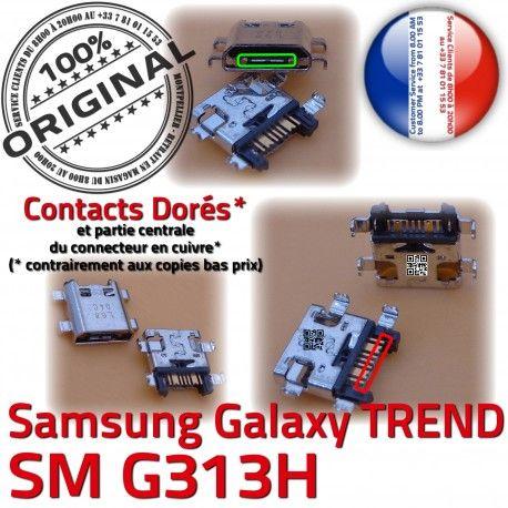TREND S DUOS SM G313H Micro USB Fiche souder de Galaxy Pins Chargeur Dorés ORIGINAL MicroUSB Connector Samsung Qualité charge à SM-G313H Dock Prise