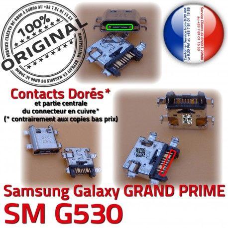 GRAND PRIME SM-G530 USB Charge Qualité Chargeur charge de à Galaxy Prise Samsung G530 ORIGINAL SM Doré souder Connector Connecteur Micro