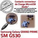 GRAND PRIME SM G530 Micro USB ORIGINAL SM-G530 charge Qualité Connector Samsung de Fiche MicroUSB Chargeur à Prise Galaxy souder Pins Dorés Dock