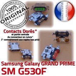Dock de Chargeur Pins Galaxy Connector SM-G530F Samsung Fiche SM GRAND charge Micro Qualité MicroUSB Prise souder G530F PRIME ORIGINAL à USB Dorés