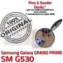 GRAND PRIME SM G530 Micro USB Pins Dorés ORIGINAL Connector Fiche Dock SM-G530 Qualité Chargeur à Samsung charge souder Prise MicroUSB Galaxy de