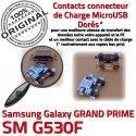 GRAND PRIME SM G530F Micro USB à Dorés ORIGINAL Qualité MicroUSB souder Pins Connector SM-G530F Samsung Fiche Dock charge Prise Chargeur Galaxy de