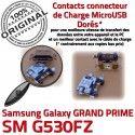 GRAND PRIME SM G530FZ Micro USB Fiche Qualité SM-G530FZ Samsung Dorés ORIGINAL Dock Connector Chargeur Prise souder Galaxy charge à de MicroUSB Pins