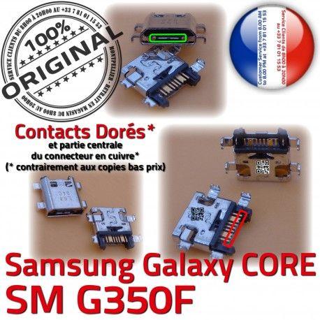 Samsung Core SM-G350F USB Charge SM ORIGINAL Plus de Micro à Connecteur Pins Prise Chargeur Connector souder Dorés G350F Galaxy Qualité charge