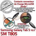 Samsung Galaxy TAB S SM-T805 Ch Qualité Mémoire Nappe Connecteur USB Lecteur de ORIGINAL SD Port Charge TAB-S Micro Doré Prise Chargeur