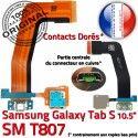Samsung Galaxy SM-T807 TAB-S Ch TAB SM de Charge Réparation Chargeur Connecteur Contacts ORIGINAL OFFICIELLE Dorés Micro USB Nappe S Qualité T807