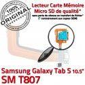Samsung Galaxy SM-T807 TAB-S Ch OFFICIELLE ORIGINAL de Réparation Nappe Chargeur Charge Contacts Micro SM T807 Connecteur Qualité S TAB Dorés USB