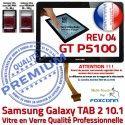Galaxy TAB-2 GT P5100 REV R04 N Verre Prémonté Adhésif Noir Qualité LCD Vitre PREMIUM en Tactile Ecran 10.1 Supérieure Samsung