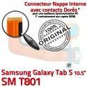 SM-T801 Micro USB TAB-S Carte SD Chargeur Galaxy de Lecteur Mémoire Charge Qualité Samsung Connecteur S PORT T801 SM ORIGINAL TAB Nappe