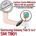SM-T801 Micro USB TAB-S Carte SD Connecteur TAB de Nappe Charge SM Qualité Chargeur T801 Lecteur ORIGINAL Mémoire Samsung PORT Galaxy S