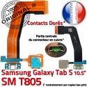 SM-T805 Micro USB TAB-S Carte SD de SM Qualité Chargeur Lecteur Charge S T805 Connecteur Mémoire TAB Nappe PORT Galaxy ORIGINAL Samsung