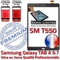 TAB-A Grise SM T550 TITANIUM Prémonté TAB Complet en Tactile Vitre Verre Écran Qualité Samsung SM-T550 A Gris Assemblée Adhésif Complète PREMIUM Galaxy
