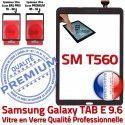 Galaxy TAB-E SM T560 Vitre Noir Assemblée PREMIUM Adhésif Ecran Samsung Tactile 9.6 Verre Qualité Supérieure Assemblé SM-T560 Noire