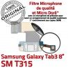 SM-T315 Micro USB TAB3 Charge TAB OFFICIELLE T315 Qualité Dorés de Samsung Contacts Galaxy Réparation Connecteur ORIGINAL 3 SM Chargeur MicroUSB Nappe