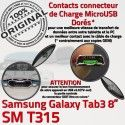 SM-T315 USB TAB3 Prise Charge Galaxy Microphone Qualité Nappe TAB Réparation 3 ORIGINAL MicroUSB Port Chargeur de Connecteur SM Samsung Fiche T315