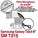 SM-T315 USB TAB3 Prise Charge Chargeur ORIGINAL Port Galaxy SM Microphone Connecteur Nappe Samsung T315 MicroUSB Réparation Fiche TAB Qualité 3 de