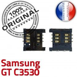 SIM ORIGINAL Lecteur Samsung Pins GT S Connector SLOT Carte Contacts Connecteur OR Card Reader Prise c3530 souder Dorés à
